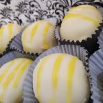 Lemon truffles in mini cupcake liners.