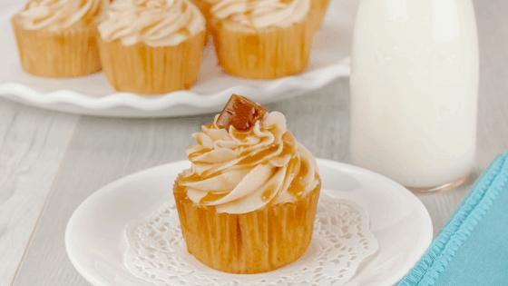 Caramel Drizzled Brown Sugar Vanilla Cupcakes