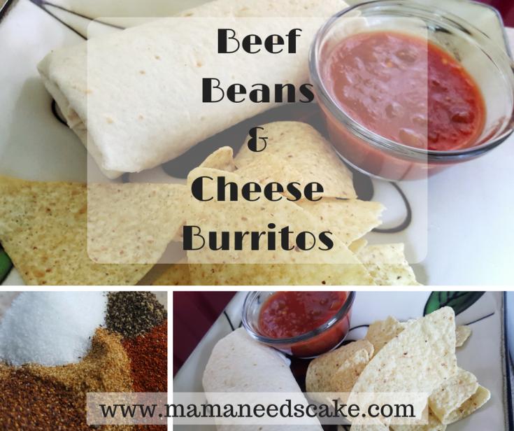 Beef, Beans & Cheese Burritos