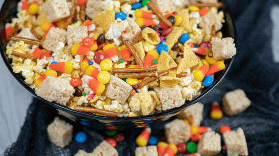 Sweet & Salty Halloween Snack Mix - Nut-Free