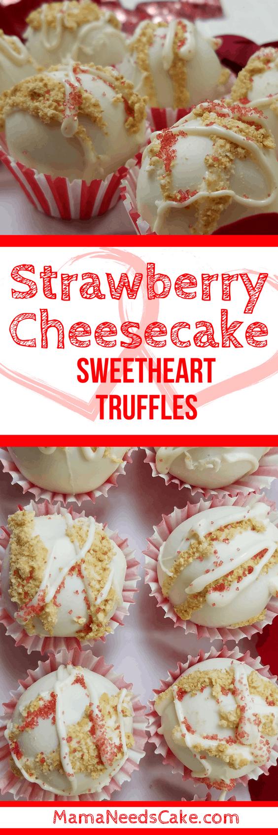 Strawberry Cheesecake Sweetheart Truffles