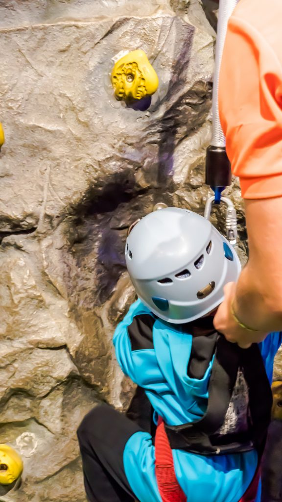 rock wall climbing toddler pigeon forge TN