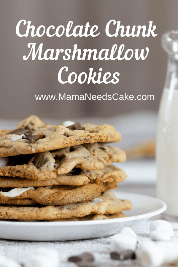 Chocolate Chunk Marshmallow Cookies 5