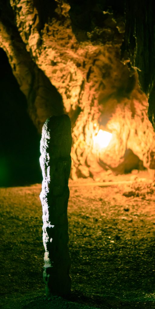 Grand Caverns Ball Room Hitching Stick
