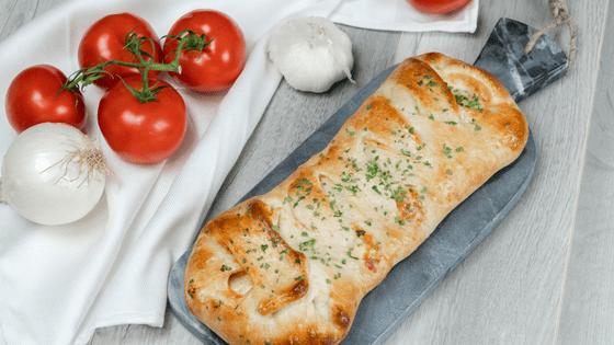 Braided Pepperoni & Ham Stromboli