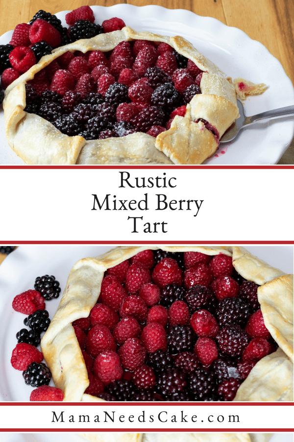 Rustic Mixed Berry Tart 1
