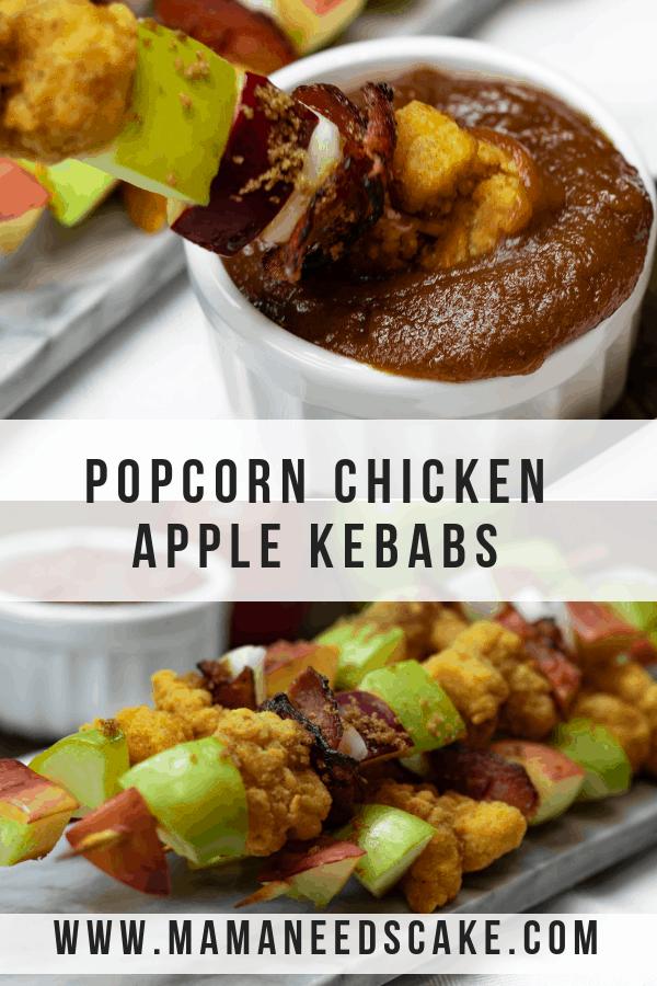 Popcorn Chicken Apple Kebabs
