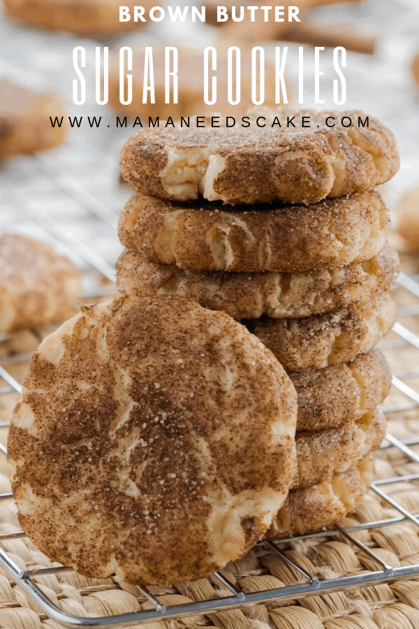 Sugar cookies are one of the most popular cookies in the U.S. and these brown butter sugar cookies take the beloved cookie to an all new level. #sugarcookies #brownbutter #easycookies #falldessert #fallcookies #cookiegifts #cookies #softcookies