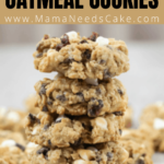 stacked Cranberry White Chocolate Chip Oatmeal Cookies