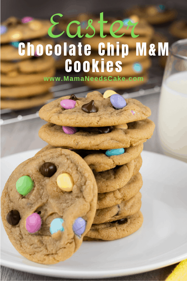 Easter Chocolate Chip MM Cookies 1