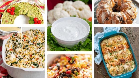 holiday potluck recipes ideas casseroles dips salsa bread