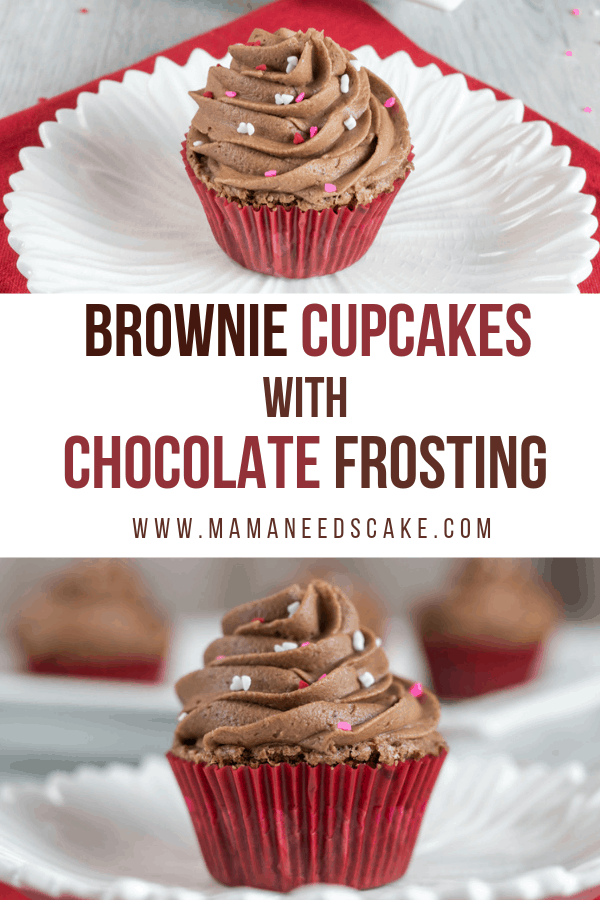 Brownie Cupcakes with Chocolate Frosting 1