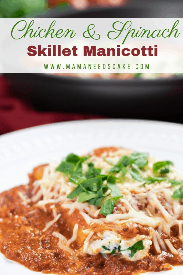 Chicken Spinach Skillet Manicotti 1