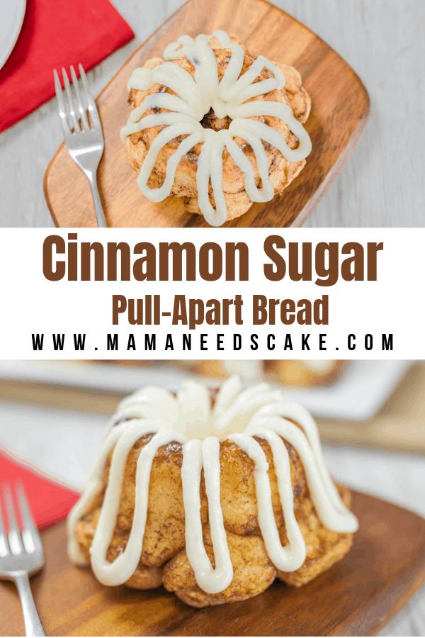Mini Bundt Cinnamon Sugar Pull Apart Bread