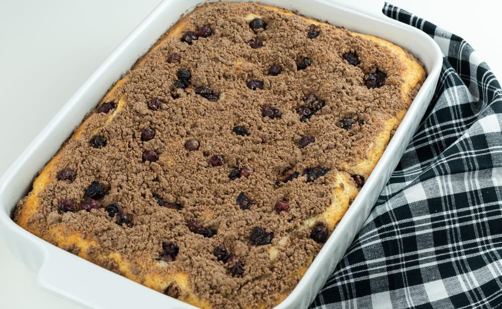 blueberry crumb cake with streusel topping