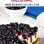 Instant Pot Blueberry Cheesecake 2