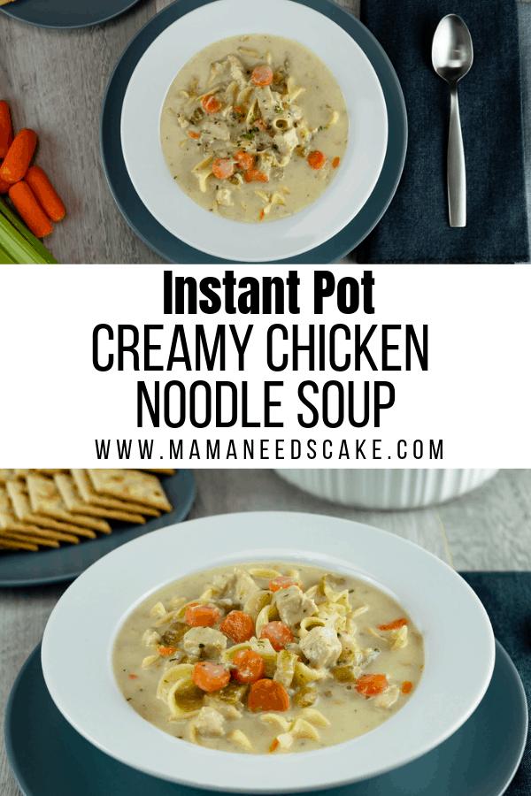 Instant Pot Creamy Chicken Noodle Soup 2
