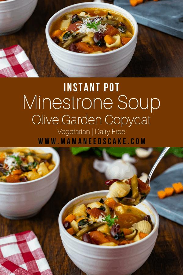 Olive Garden Copycat Instant Pot Minestrone Soup 2