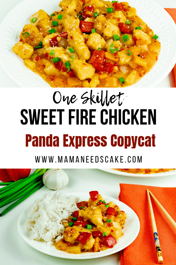 One Skillet Sweet Fire Chicken Panda Express Copycat 1