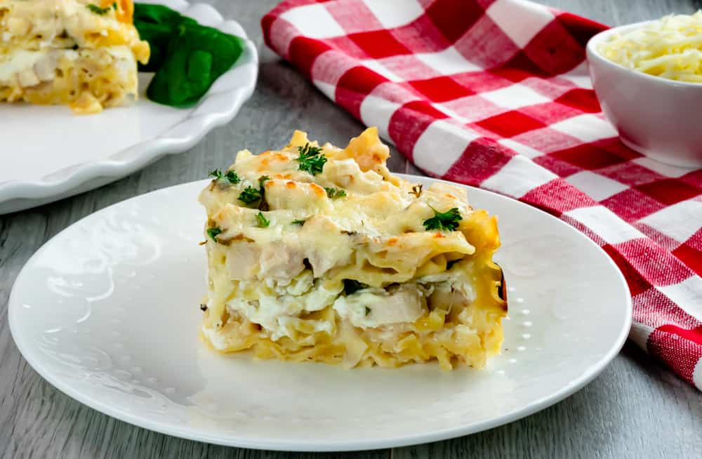 Instant Pot White Chicken and Spinach Lasagna