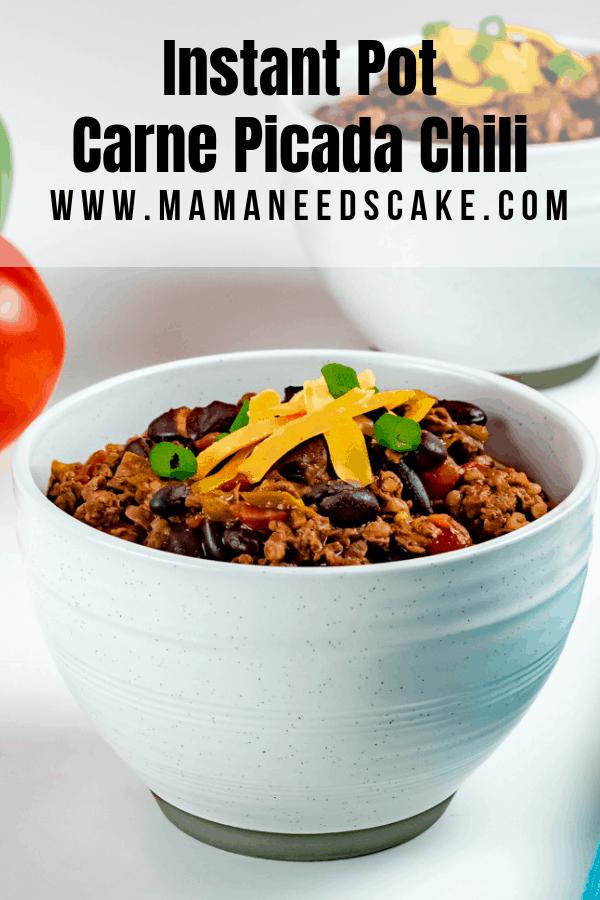 Instant Pot Carne Picada Chili