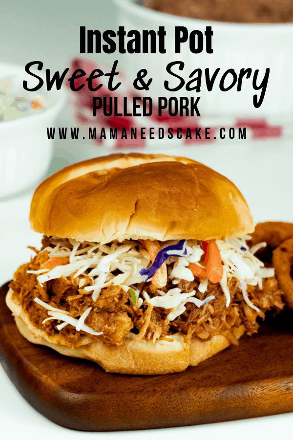 Instant Pot Sweet Savory Pulled Pork