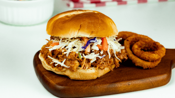 Instant Pot Sweet and Savory Pulled Pork Sandwich