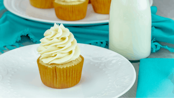 Vanilla Cupcakes with Very Vanilla Buttercream Frosting