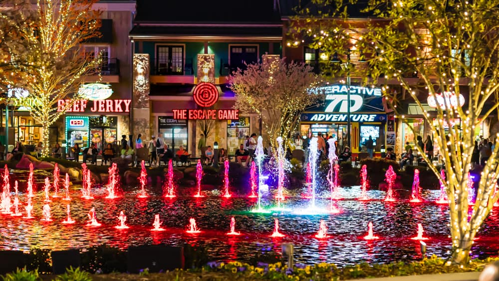 The Island at Pigeon Forge Dancing Fountain