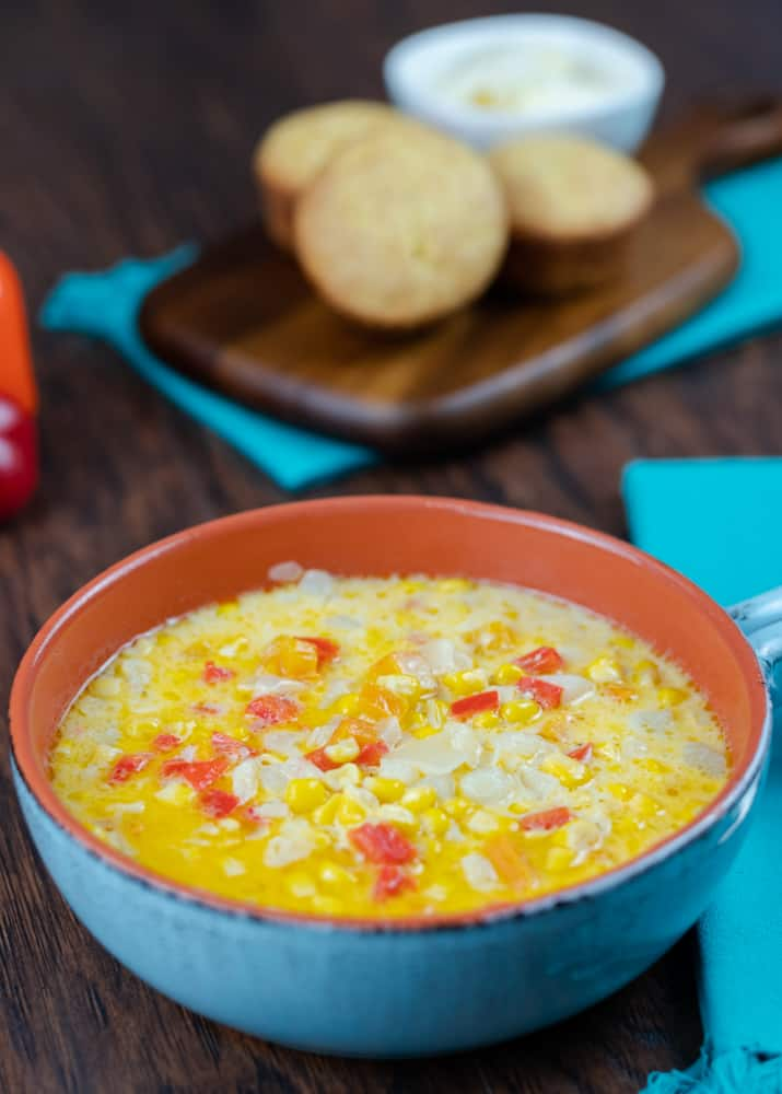 Instant Pot and Stove Top Corn and Pepper Soup