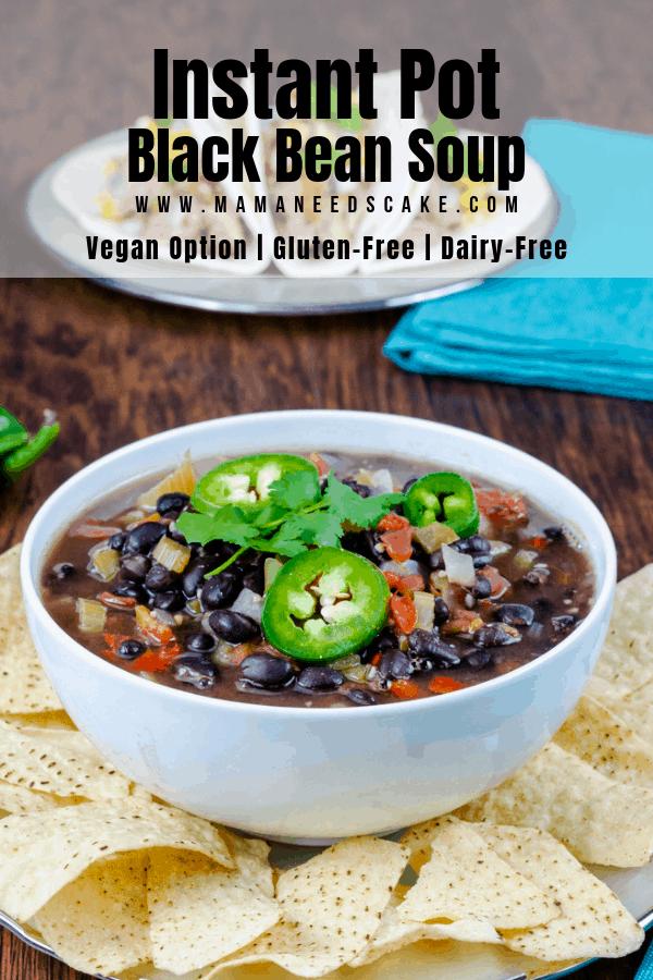 Instant Pot Black Bean Soup 1