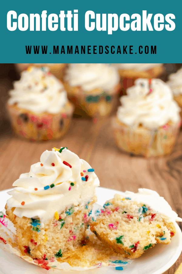 vanilla confetti cupcakes