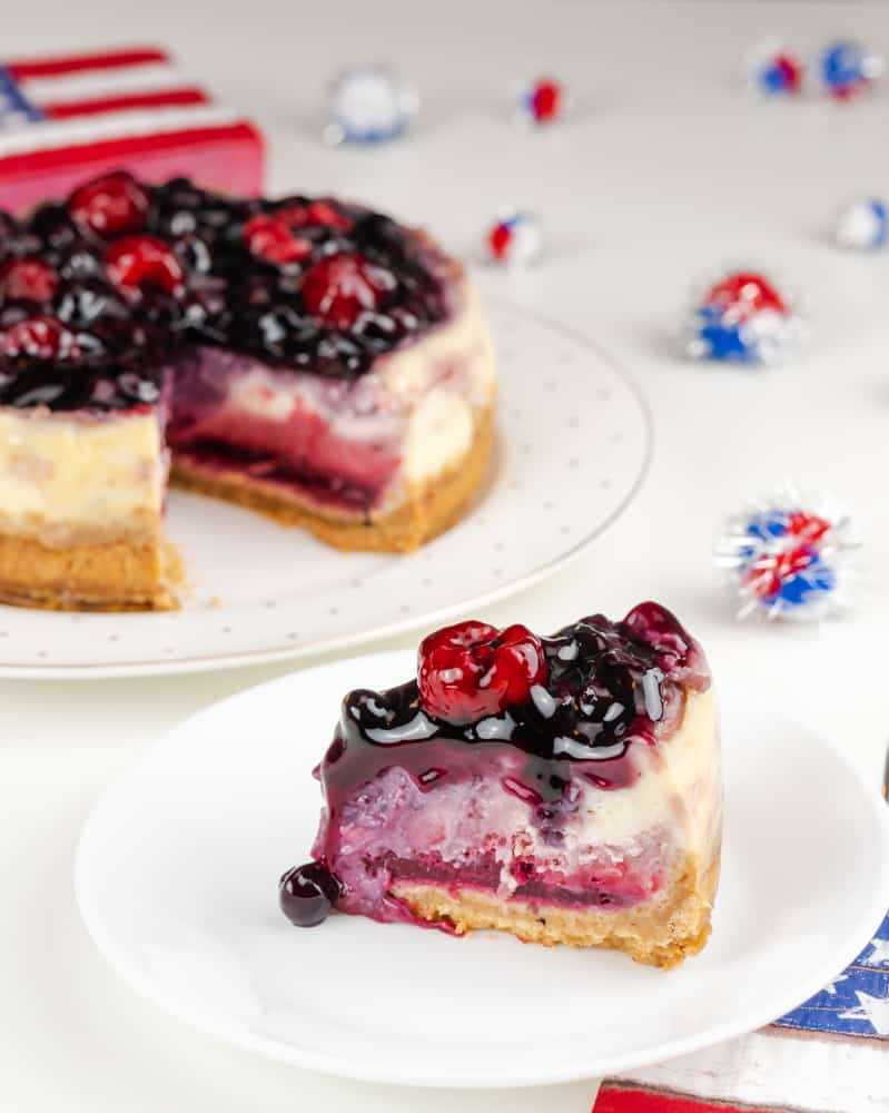 Instant Pot Mixed Berry Cheesecake