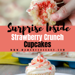 Surprise Inside Strawberry Crunch Cupcakes 2