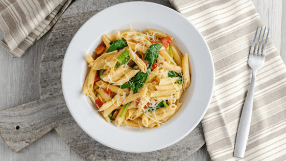 Instant Pot Tomato and Spinach Penne Pasta