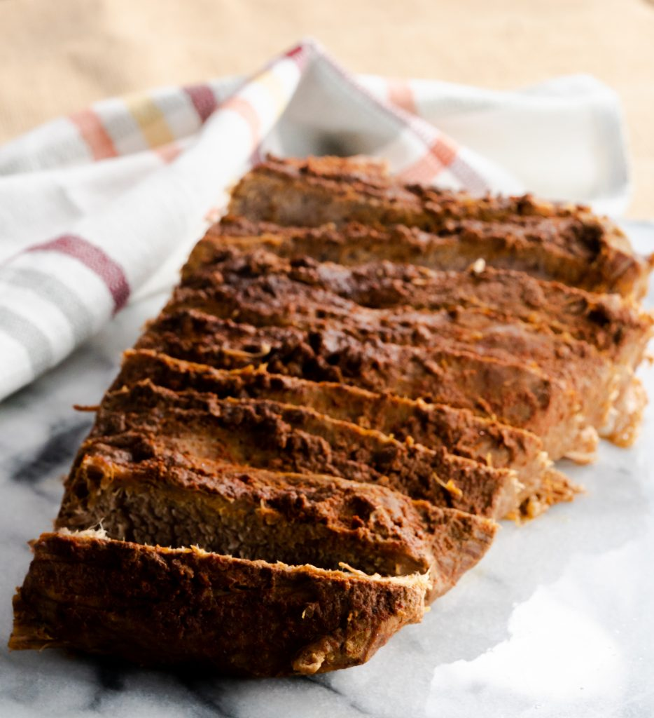 Dry rubbed beef brisket cooked in the Instant Pot and smothered with barbecue sauce. Great to serve as pulled brisket sandwiches.
