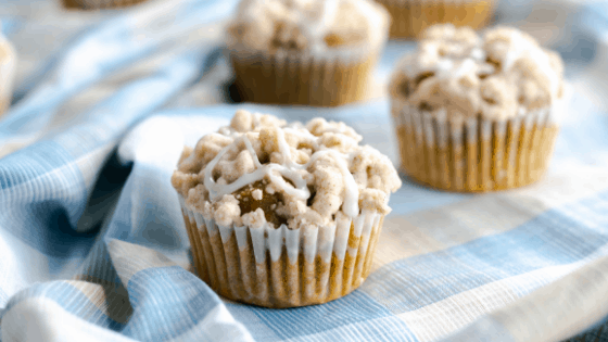 Crumb Topping Pumpkin Spice Muffins