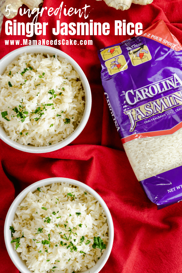 #ad Quick and easy 5 ingredient Instant Pot Ginger Jasmine Rice.  Just a few simple ingredients create a flavorful and tasty side dish.  #AD  Quick and easy 5 ingredient Instant Pot Ginger Jasmine Rice using @carolinariceusa. Just a few simple ingredients create a flavorful and tasty side dish. Directions for Instant Pot and stovetop are included. #CarolinaRice #CarolinaRiceUnites #recipes#instantpotrice #jasminerice #easysidedish #5ingredient