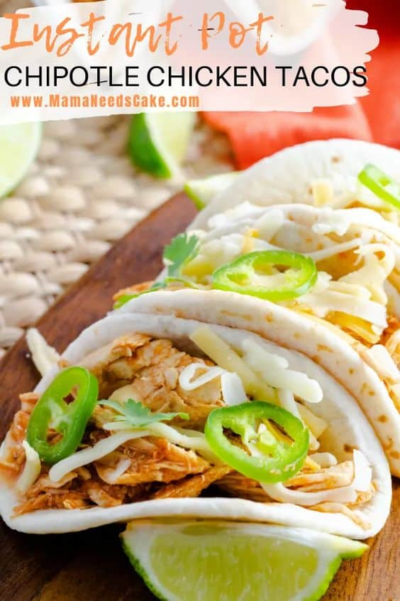 Instant Pot Chipotle Chicken Tacos Pin 2