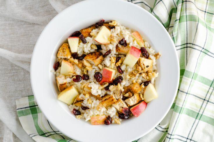 Chicken Cranberry Apple Rice Salad