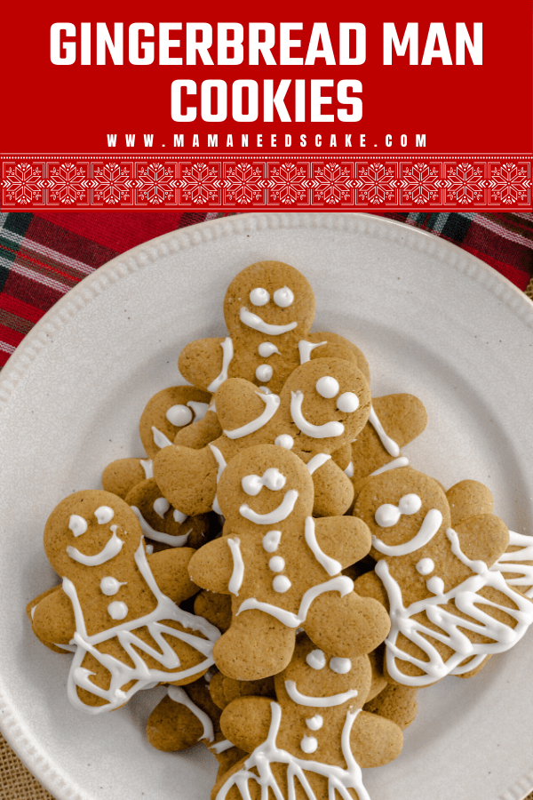 Classic soft and chewy gingerbread man cookies perfect during the Holiday season. Iced without royal icing.  #gingerbread #gingerbreadmen #christmascookies #holidaycookies #cookies #classic #baking #cutoutcookies #gingerbread