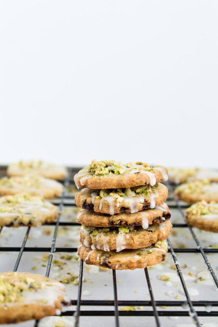 Pistachio Cranberry Shortbread Cookies 8 scaled