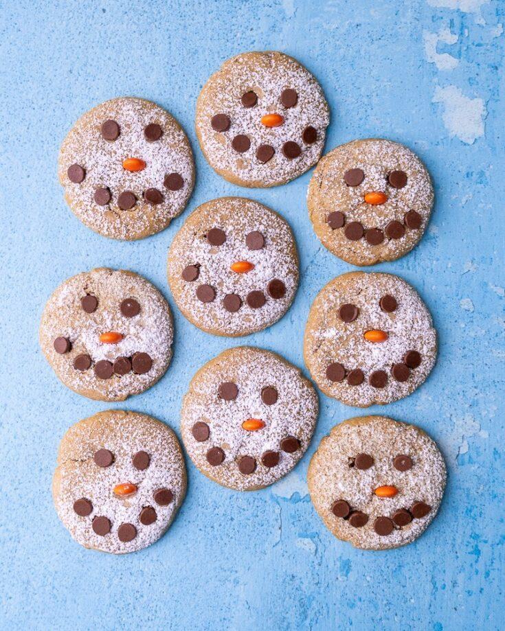 Snowman Peanut Butter Cookies 5 1