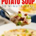 Cheesy Loaded Potato Soup 4