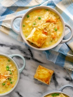 puff pastry in pot pie soup