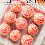 Celebrate with these light and fluffy pink champagne cupcakes frosted with pink champagne buttercream frosting. Subtly sweet and perfect for that special occasion. #pinkchampagne #cupcakes #partycupcakes #boozycupcakes #boozy #dessert #pinkdesserts #girlsnight #bridalshower #batcheloretteparty #mothersdaydessert #newyearsdessert #newyears