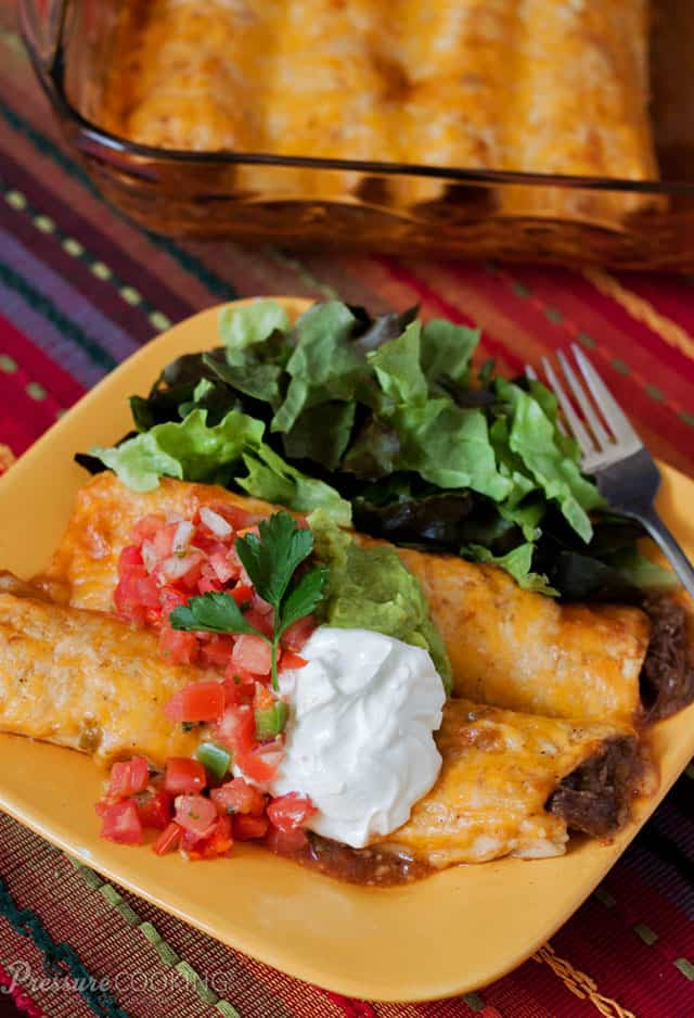 Shredded Beef Enchiladas 3 Pressure Cooking Today