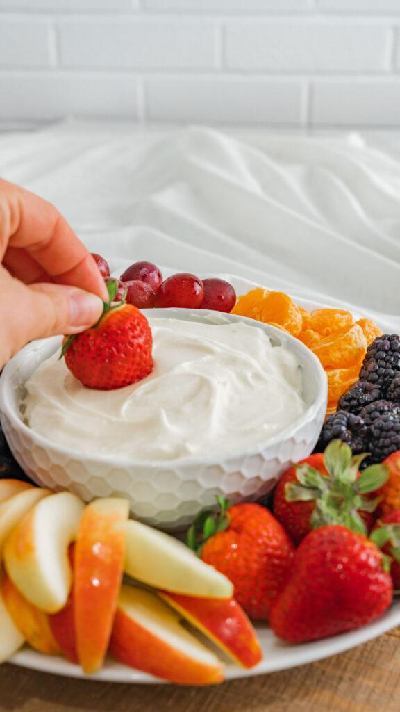 marshmallow fruit dip 2