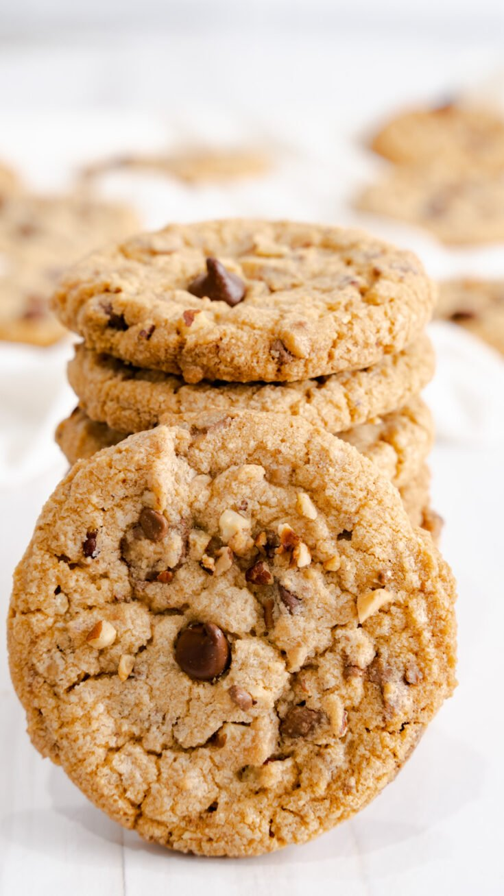 Close up of toffee cookie.