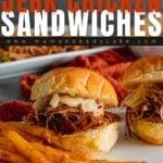 Instant Pot Jerk Chicken Sandwiches Pin